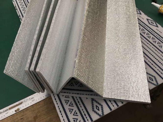 床用の銀マット裏側