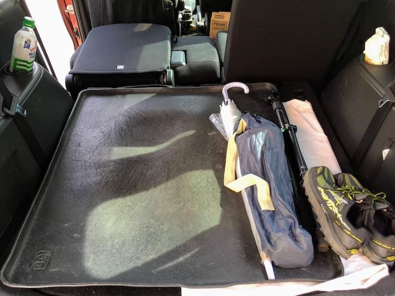 車中泊の時のシート位置